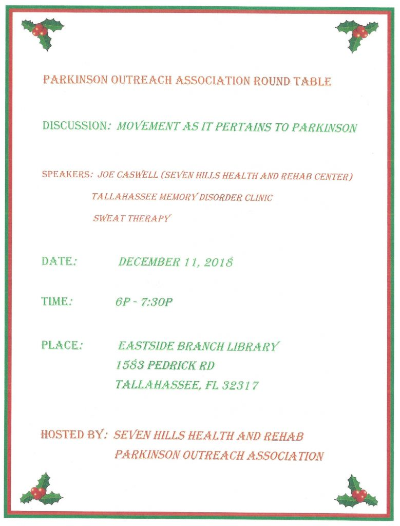 December 2018 Round Table Flyer